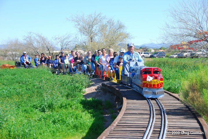 Free Train Rides on Sunday at Maricopa Live Steamers in North Phoenix
